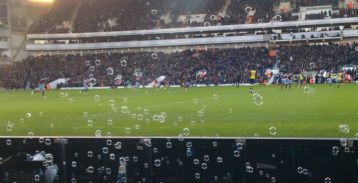 The West Ham bubble machine in full flow...