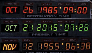 back to the future dashboard